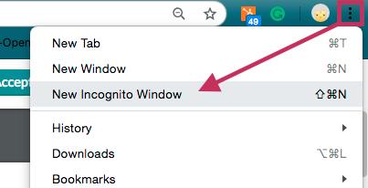 Open Incognito Window